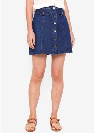 🚚 Zalora A Line Denim Mini Skirt