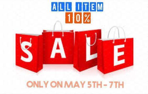 RAMADHAN SALE, 10 % ALL ITEM !!!