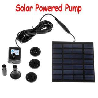 Solar Panel Powered Water Feature Pump Garden Pool Pond