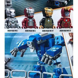 76125- Iron Man Hall of Armor (淨Ironman, 一套5隻) 連Ironman 相關特效件