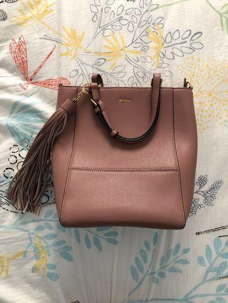 🚚 Bonia Purple Hand Carry Handbag