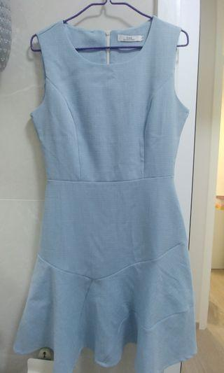 藍色全新連身裙