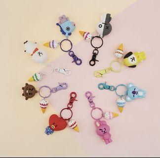 bts bt21 keyrings