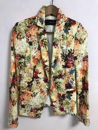 🚚 [全新]ZARA 花卉西裝外套 Dolce & Gabbana 風