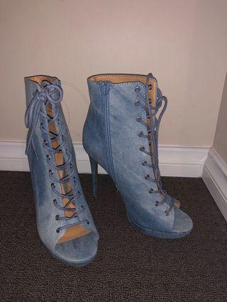 Denim Heel/boots