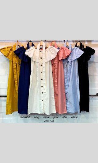Dress / dress sabrina / Colorful Sabrina Dress / Ready / pakaian wanita