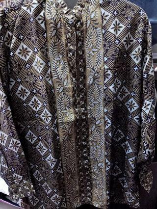 Kemeja Batik Pria L preloved