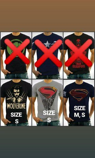 BAJU SUPERHERO [CLEAR STOCK]