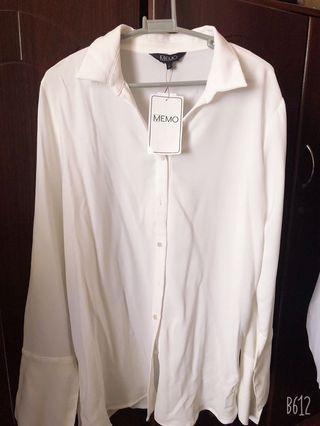 BNWT White Long Sleeve Blouse