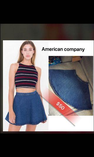 Circle denim skirts