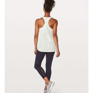 New Lululemon Essential Tank in Tiger Space Dye Hail White Size 4