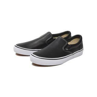 (減價預訂) Vans Slip On Leather 黑色 男女款