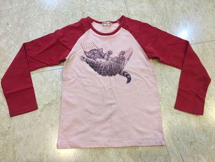 🚚 童裝 Baby care 貓咪長袖上衣