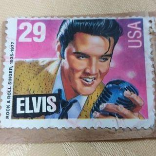 USA 29 Cents Postage Stamp Features Ex-Famous Singer Elvis Presley