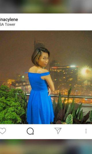 Royal Blue Offshoulder Dress *Very Pretty*