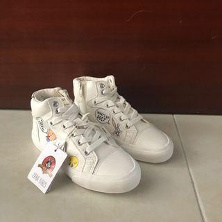 Zara Girl Bugs Bunny Sneakers Shoes beige white warner high cut boots looney tunes
