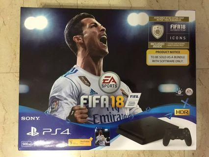 SONY PS4 FIFA18 Bundle Pack Jet Black 500GB PLAS-10044HC