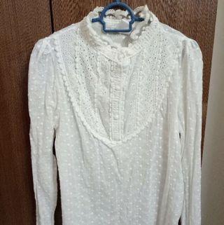 Lace White Blouse Top