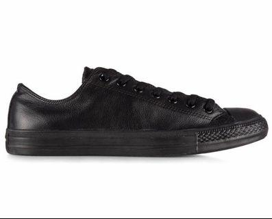 Converse Chuck Taylor Leather Ox - Black Nubuck
