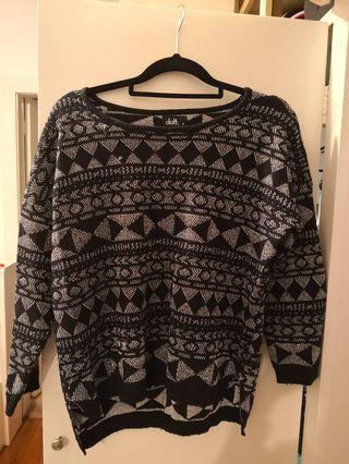 Dotti silver Aztec print jumper size m #swapAU