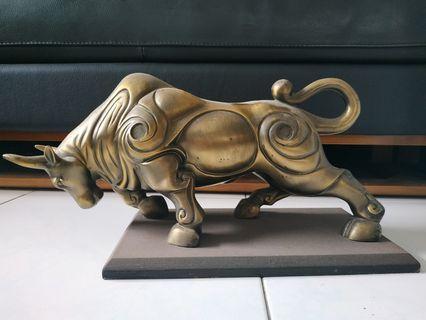 Bronze Bull v Bear Charging Good Fortune (Rare)