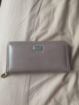 Korean pink long wallet