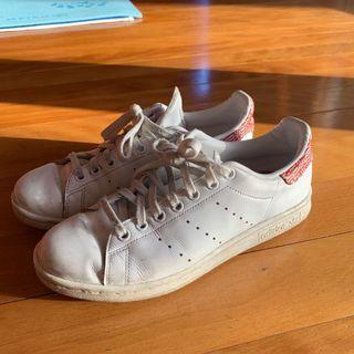 white adidas stan smith sneakers