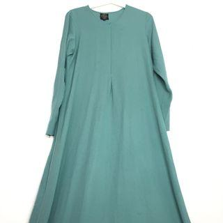 Jubah Dress Turquoise Osra Muslimah Jubah Dress Soft Wudhu Friendly