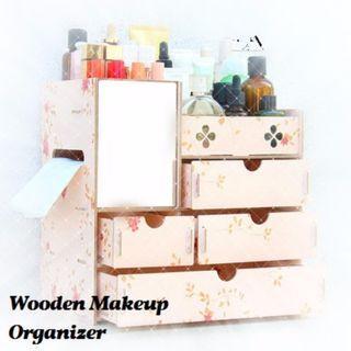 Wooden Makeup Organizer