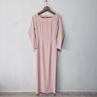 Nude Pink Maxi Dress