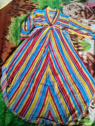 Mididress rainbow