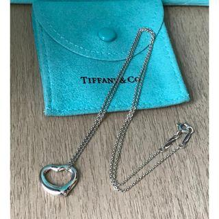 原價$2150 Tiffany Elsa Peretti Open Heart Necklace 心形吊墜連頸鍊