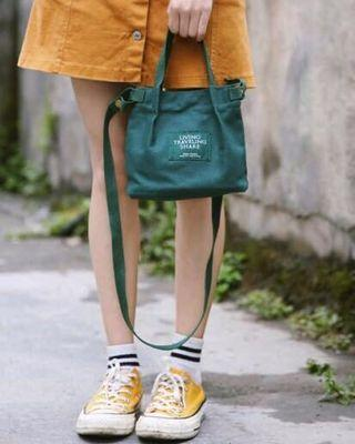 Fabric Canvas Sling Bag {Suitable for all Age Group Ladies}-Free Registered Local Mail