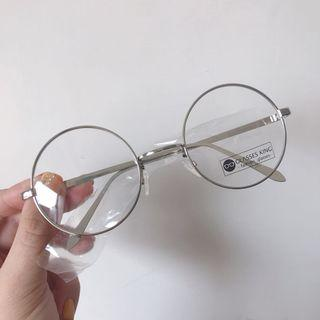 [全新] 小清新圓框細框眼鏡/銀