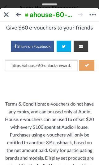 🚚 Audio house $60 e-voucher