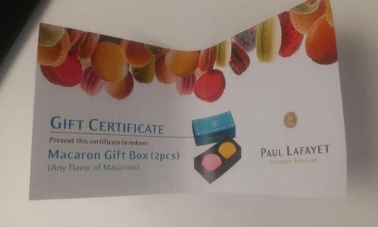 包平郵 Paul Lafayet Macaron馬卡龍 coupon gift box gift card換領卷 禮盒