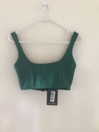 *NEW* Forest Green Zip Back Crop