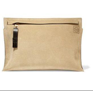 LOEWE T POUCH SUEDE