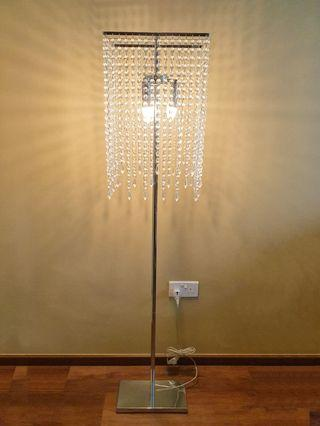 *Reserved* Reduced Price!!! Crystal Floor Lamp/ Light