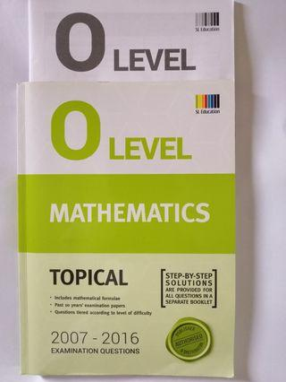 O Level Mathematics Topical (2007-2016)