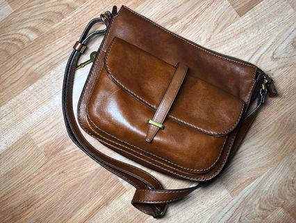 Fossil Leather Hand Bag