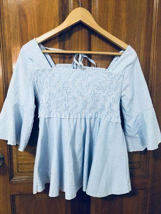 🚚 Semi Bell-Sleeved Babydoll blouse