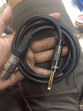 XLR to Jack Cable (1metre)