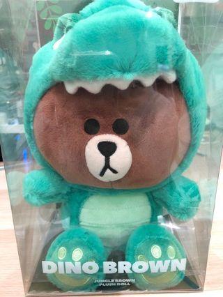 🚚 正版熊大恐龍25cm娃娃 玩偶 韓國line friends