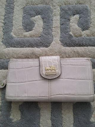 Authentic Coach leather slim wallet