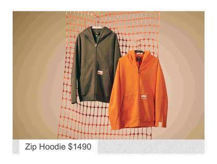 Timberland x N.Hoolywood hoodie,size L橙色,全新,門市賣$1590