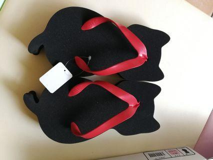 貓咪拖鞋(日本製)全新,剛從日本帶回
