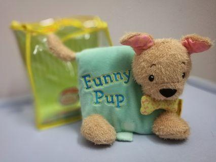 Hinkler Giggle Jiggle Cuddly Plush Book - Funny Pup