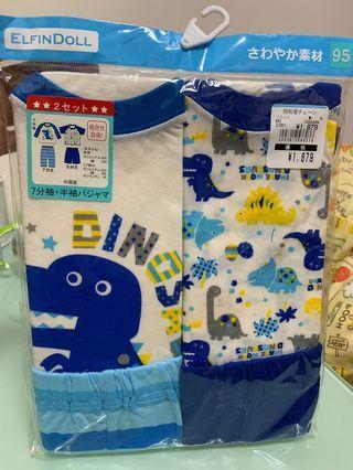日本 西松屋 bb 套裝 家居服