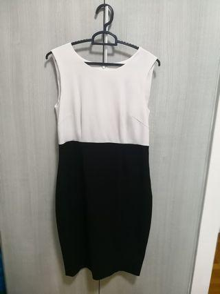 Nine West Black and white office dress
